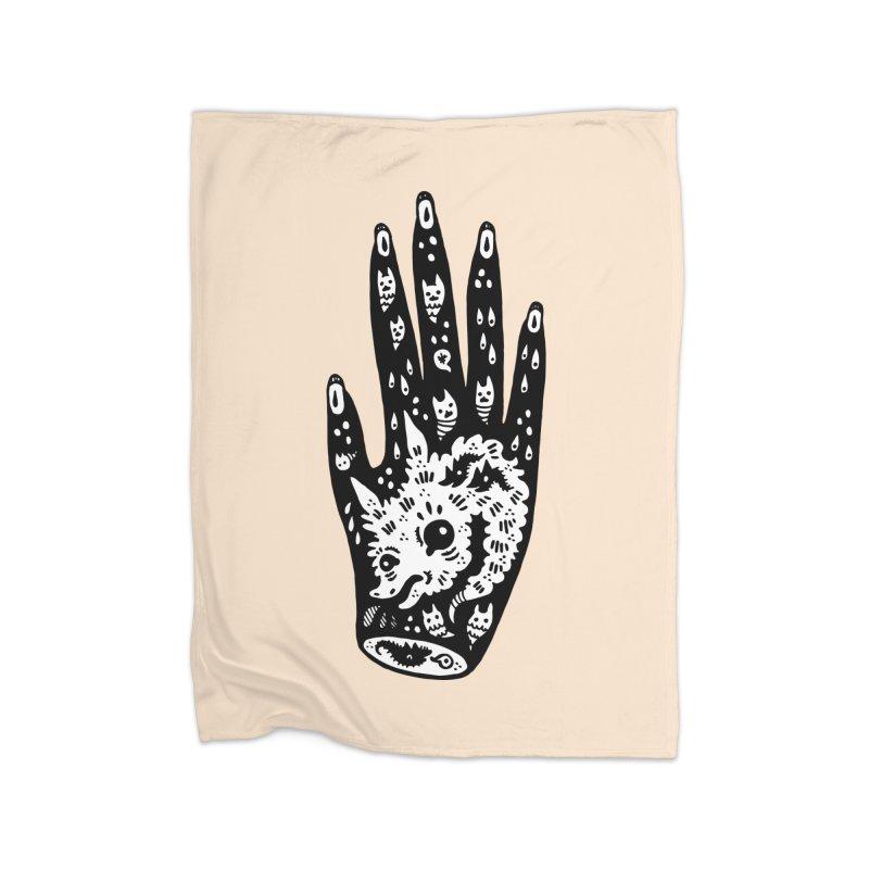 Right Hand (white inside) Home Fleece Blanket Blanket by Haypeep's Artist Shop