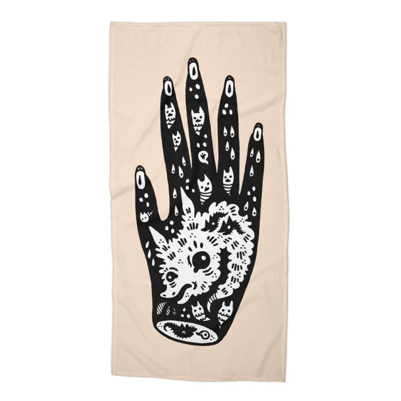 Right Hand (white inside) Accessories Beach Towel by Haypeep's Artist Shop