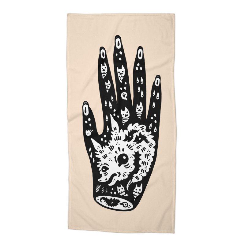 Right Hand (white inside) Accessories Beach Towel by Haypeep's Artist Shop