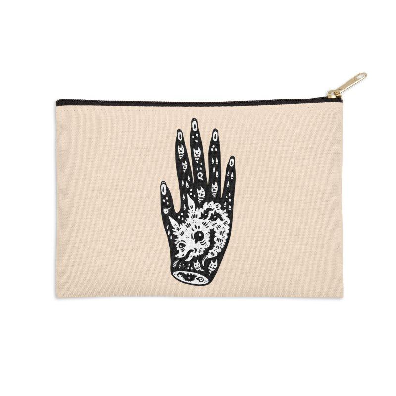 Right Hand (white inside) Accessories Zip Pouch by Haypeep's Artist Shop