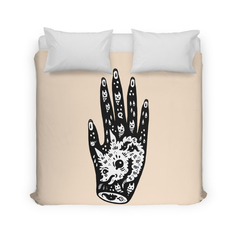 Right Hand (white inside) Home Duvet by Haypeep's Artist Shop