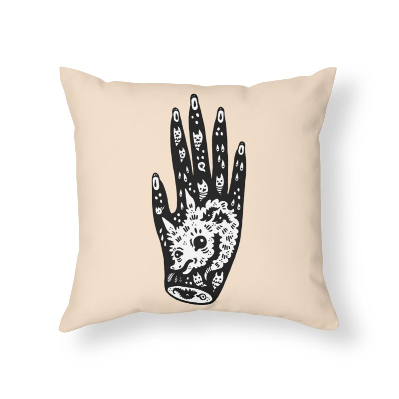 Right Hand (white inside) Home Throw Pillow by Haypeep's Artist Shop