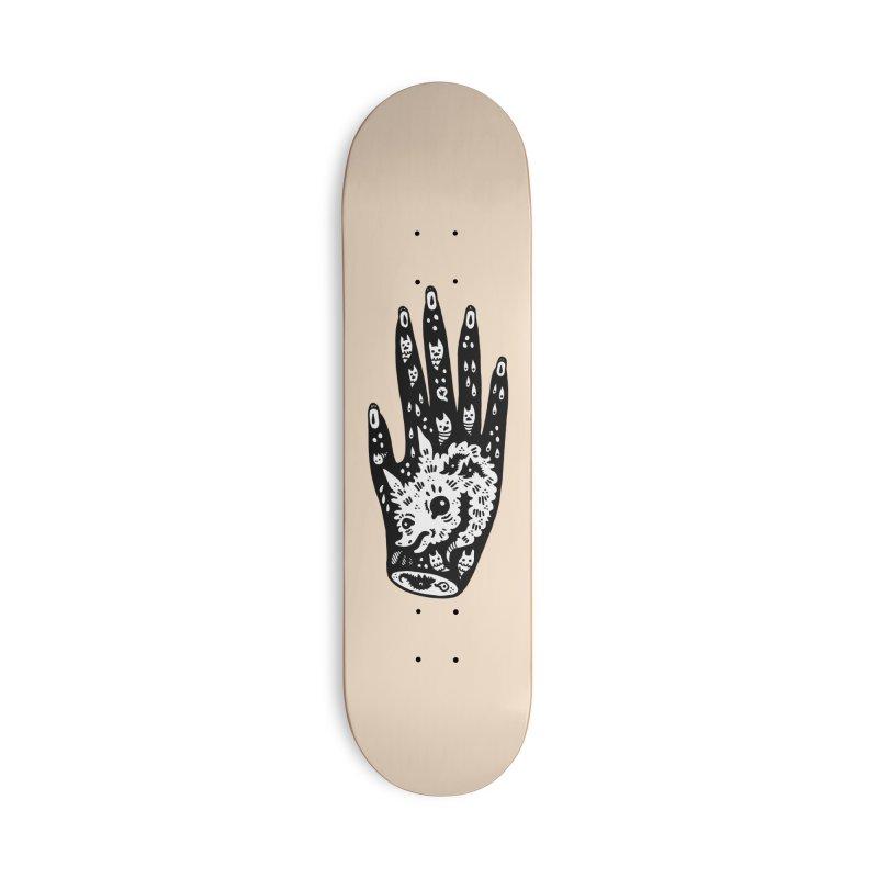 Right Hand (white inside) Accessories Skateboard by Haypeep's Artist Shop