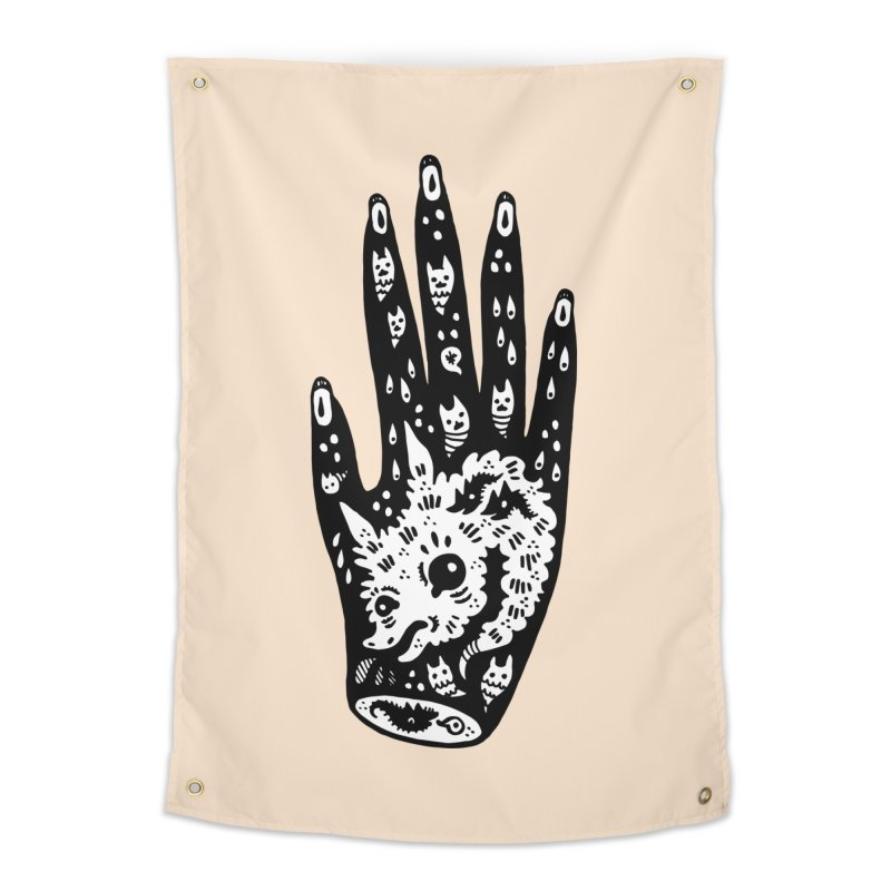 Right Hand (white inside) Home Tapestry by Haypeep's Artist Shop