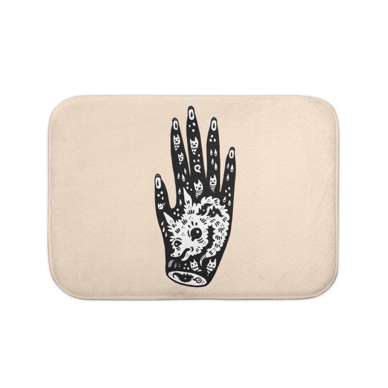 Right Hand (white inside) Home Bath Mat by Haypeep's Artist Shop