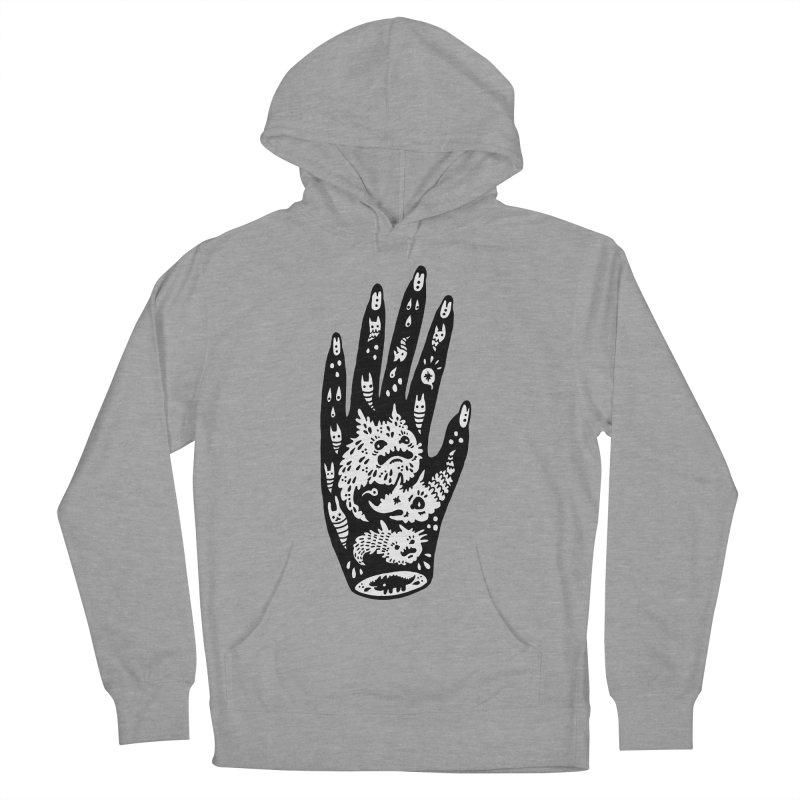 Left Hand (white inside) Men's Pullover Hoody by Haypeep's Artist Shop