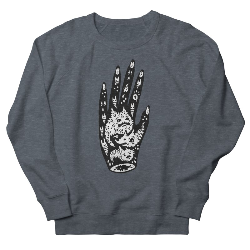 Left Hand (white inside) Women's Sweatshirt by Haypeep's Artist Shop