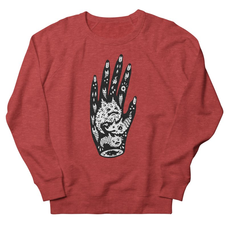 Left Hand (white inside) Women's Sweatshirt by Haypeep's Artist Shop