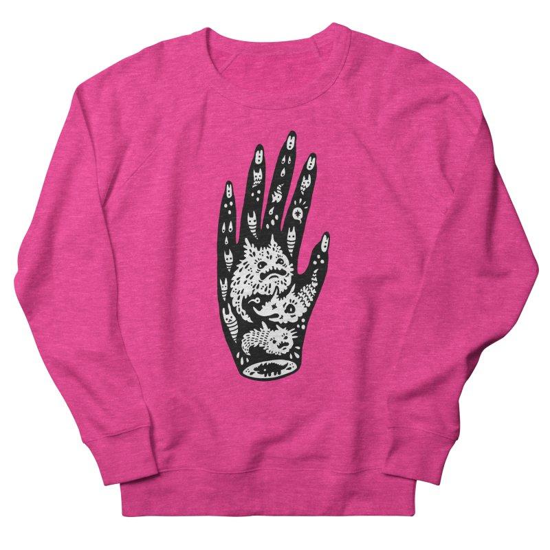 Left Hand (white inside) Women's French Terry Sweatshirt by Haypeep's Artist Shop