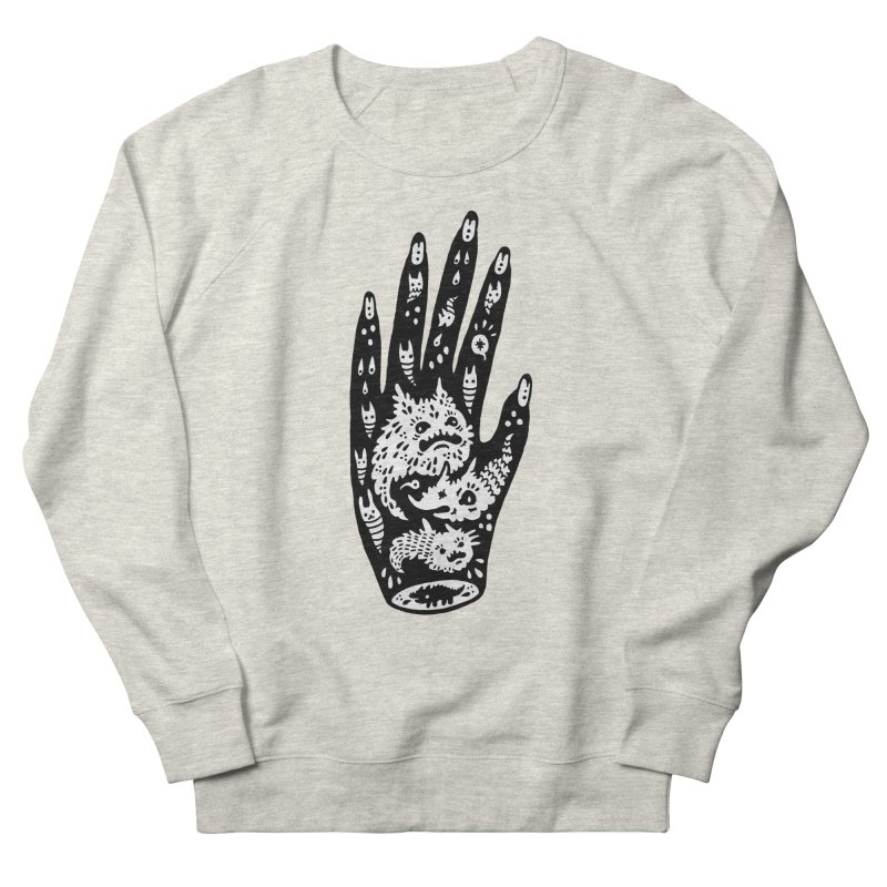 Left Hand (white inside) Men's French Terry Sweatshirt by Haypeep's Artist Shop