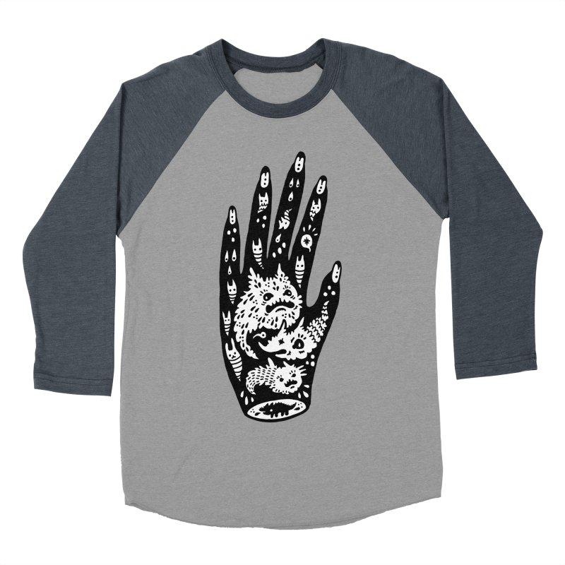 Left Hand (white inside) Men's Baseball Triblend T-Shirt by Haypeep's Artist Shop