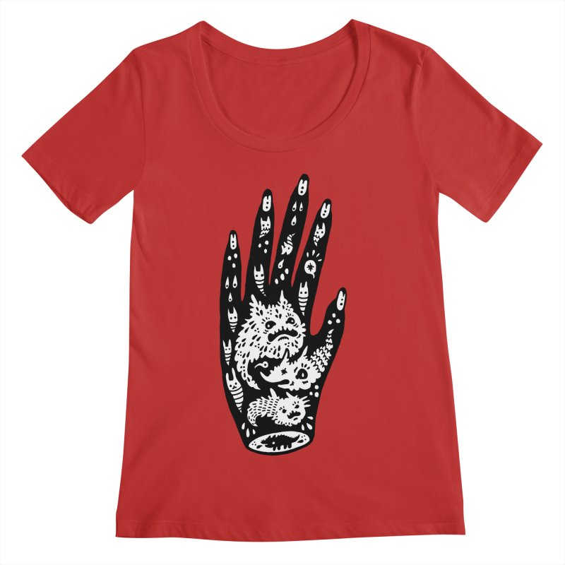 Left Hand (white inside) Women's Regular Scoop Neck by Haypeep's Artist Shop