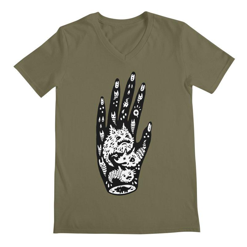 Left Hand (white inside) Men's V-Neck by Haypeep's Artist Shop
