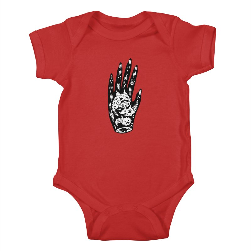 Left Hand (white inside) Kids Baby Bodysuit by Haypeep's Artist Shop