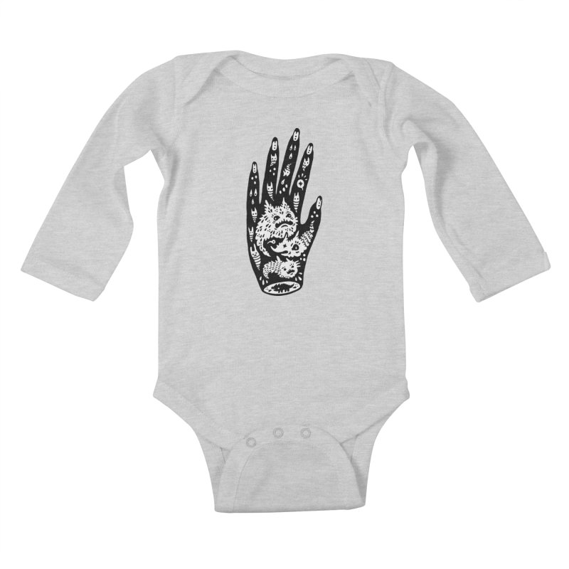 Left Hand (white inside) Kids Baby Longsleeve Bodysuit by Haypeep's Artist Shop