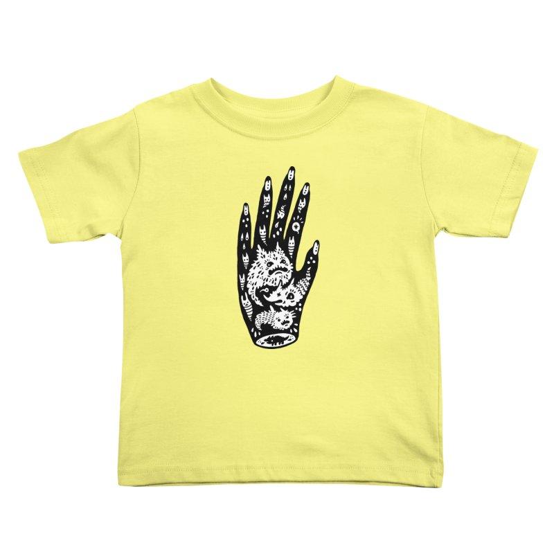 Left Hand (white inside) Kids Toddler T-Shirt by Haypeep's Artist Shop