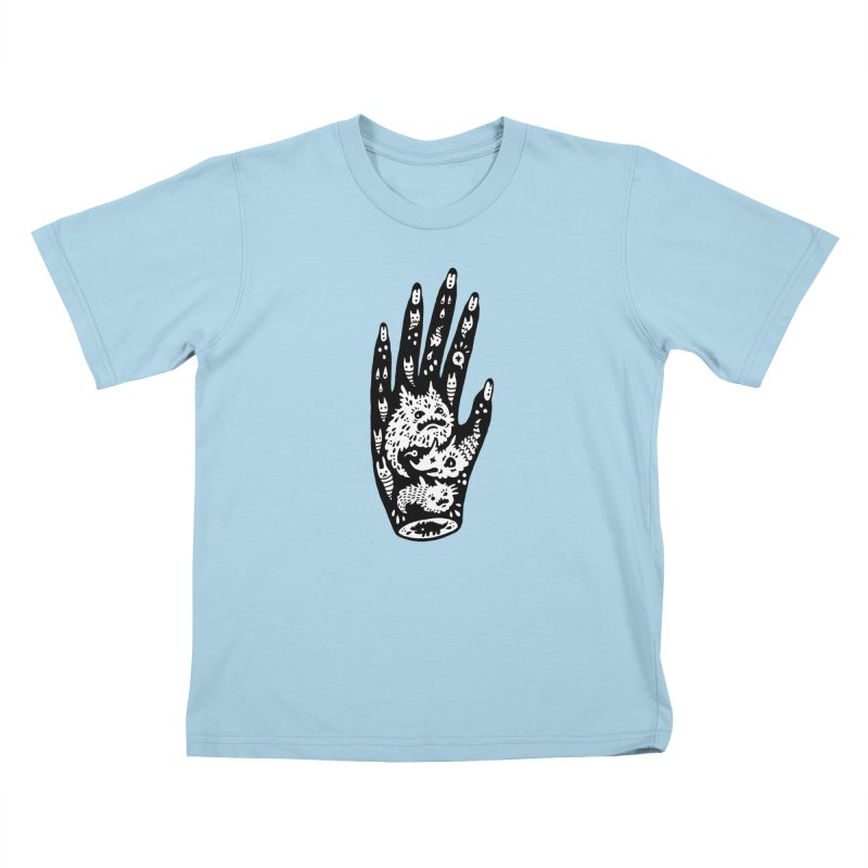 Left Hand (white inside) Kids T-Shirt by Haypeep's Artist Shop