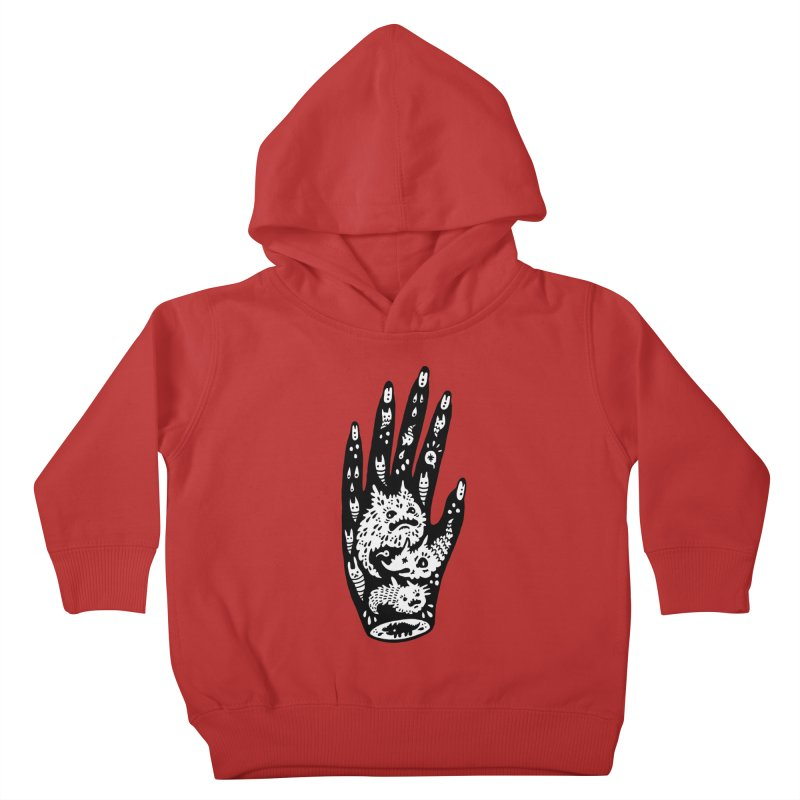 Left Hand (white inside) Kids Toddler Pullover Hoody by Haypeep's Artist Shop