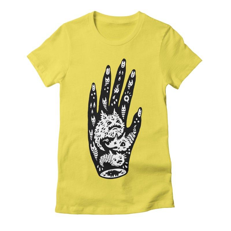 Left Hand (white inside) Women's T-Shirt by Haypeep's Artist Shop