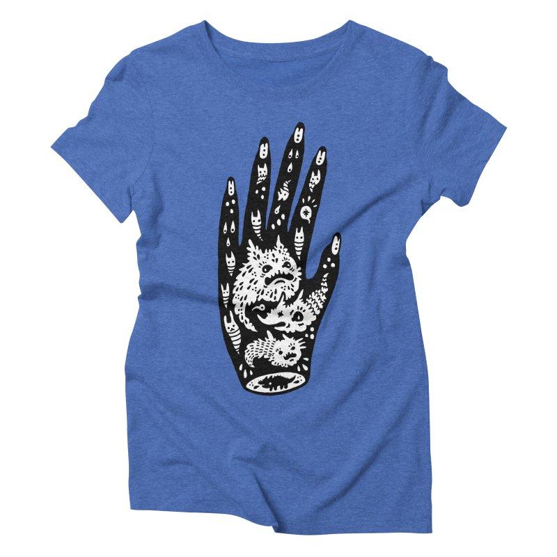 Left Hand (white inside) Women's Triblend T-Shirt by Haypeep's Artist Shop