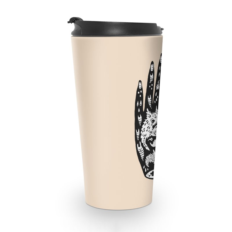 Left Hand (white inside) Accessories Travel Mug by Haypeep's Artist Shop