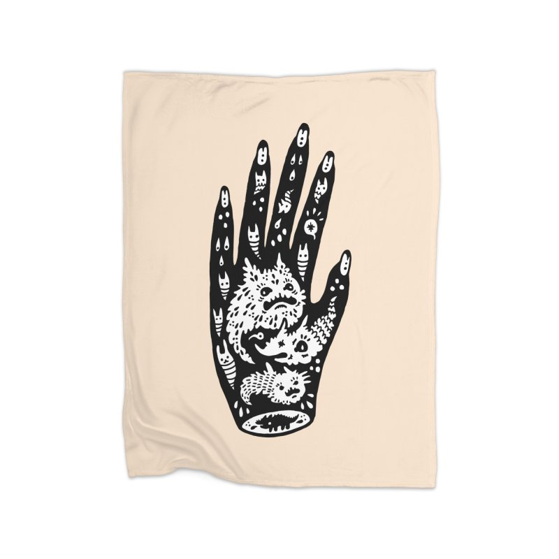 Left Hand (white inside) Home Blanket by Haypeep's Artist Shop