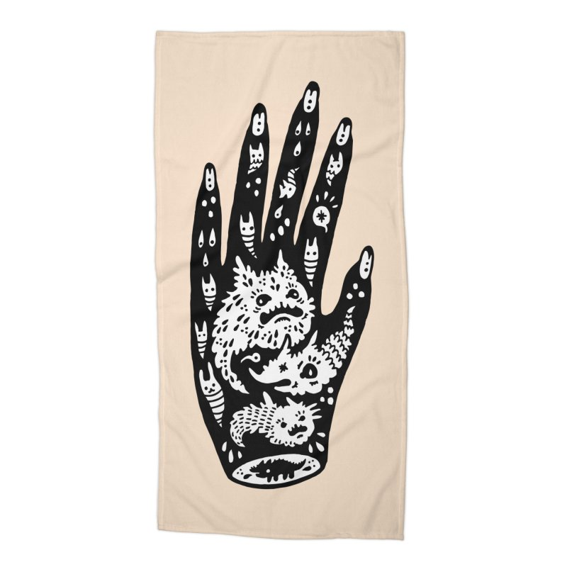 Left Hand (white inside) Accessories Beach Towel by Haypeep's Artist Shop