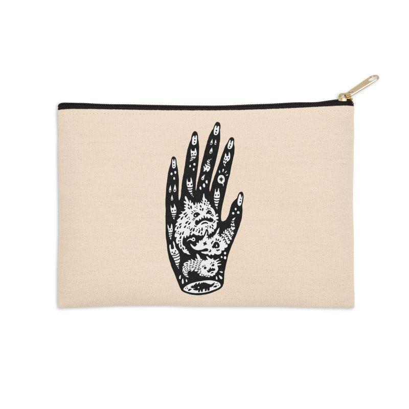 Left Hand (white inside) Accessories Zip Pouch by Haypeep's Artist Shop