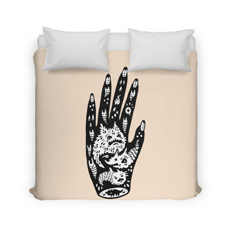 Left Hand (white inside) Home Duvet by Haypeep's Artist Shop