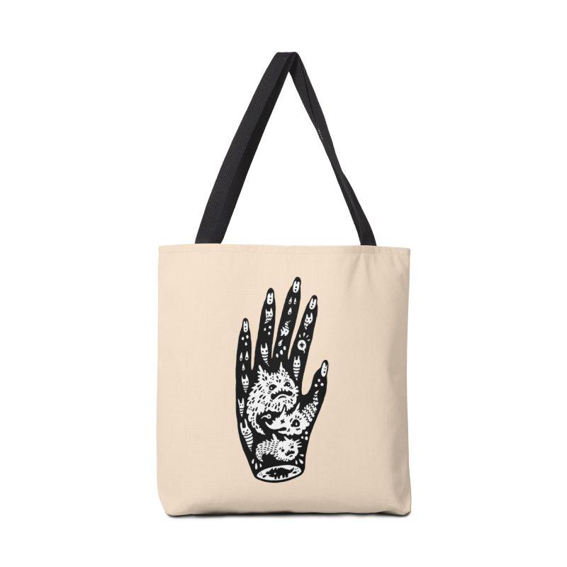 Left Hand (white inside) Accessories Bag by Haypeep's Artist Shop