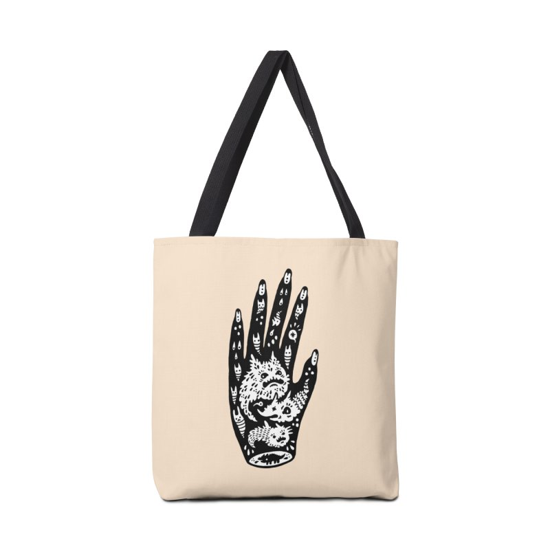 Left Hand (white inside) Accessories Bag by Haypeep's Artist Shop