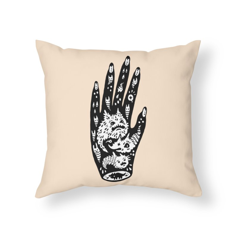 Left Hand (white inside) Home Throw Pillow by Haypeep's Artist Shop