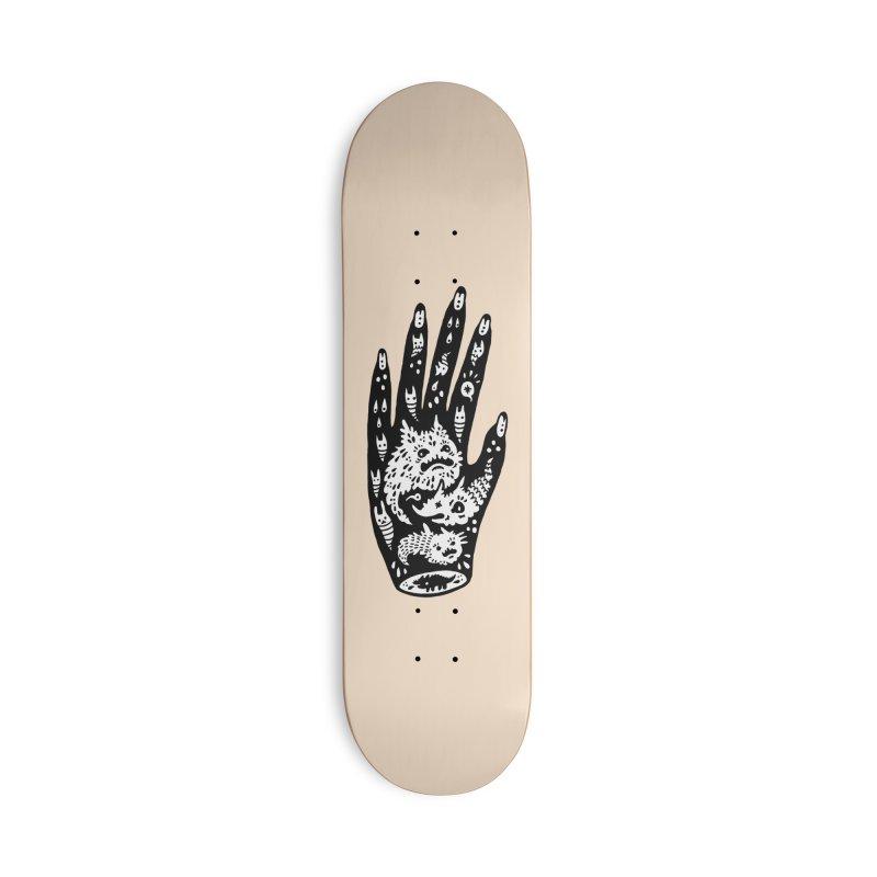Left Hand (white inside) Accessories Skateboard by Haypeep's Artist Shop