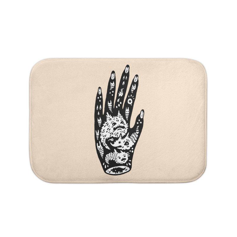 Left Hand (white inside) Home Bath Mat by Haypeep's Artist Shop