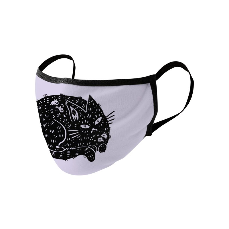 Fatty Cat sitting Accessories Face Mask by Haypeep's Artist Shop