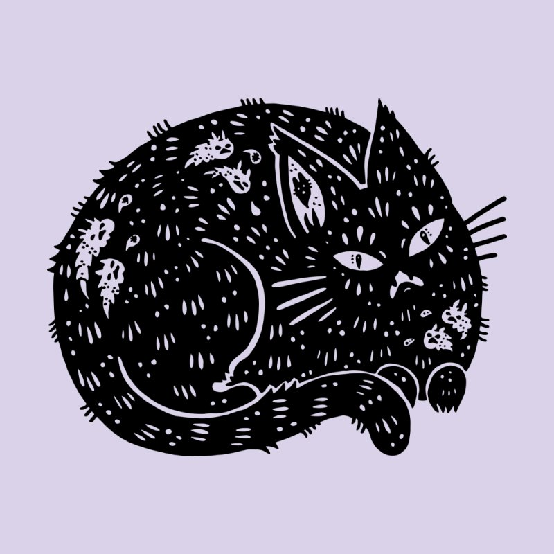 Fatty Cat sitting Accessories Sticker by Haypeep's Artist Shop