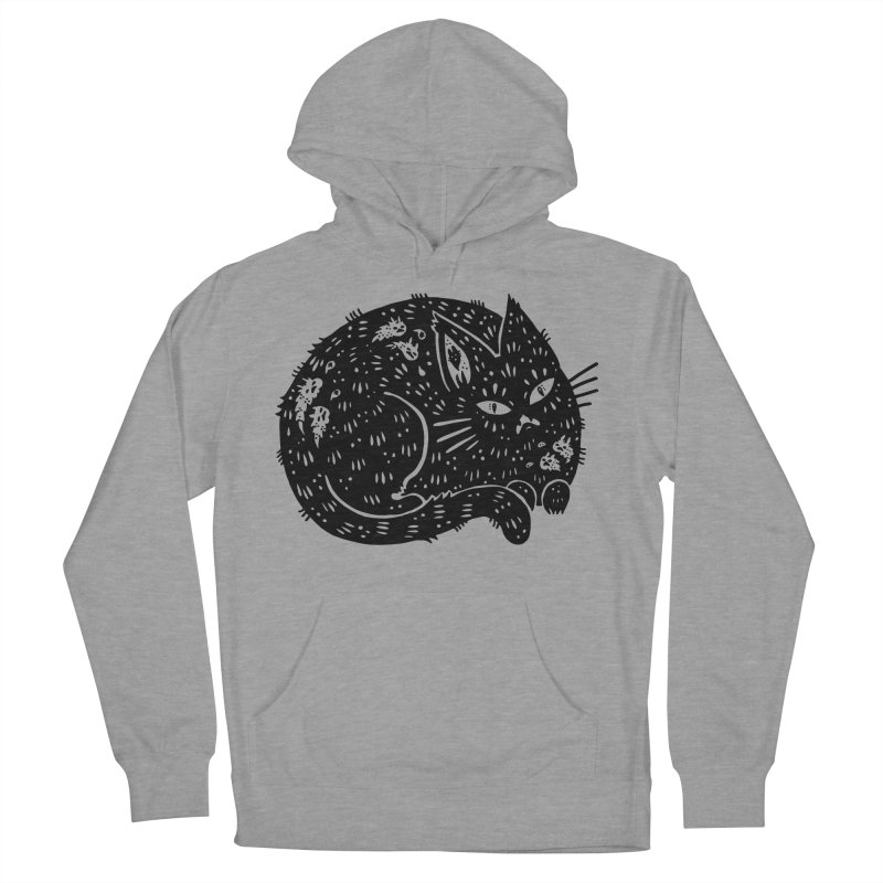 Fatty Cat sitting Men's French Terry Pullover Hoody by Haypeep's Artist Shop