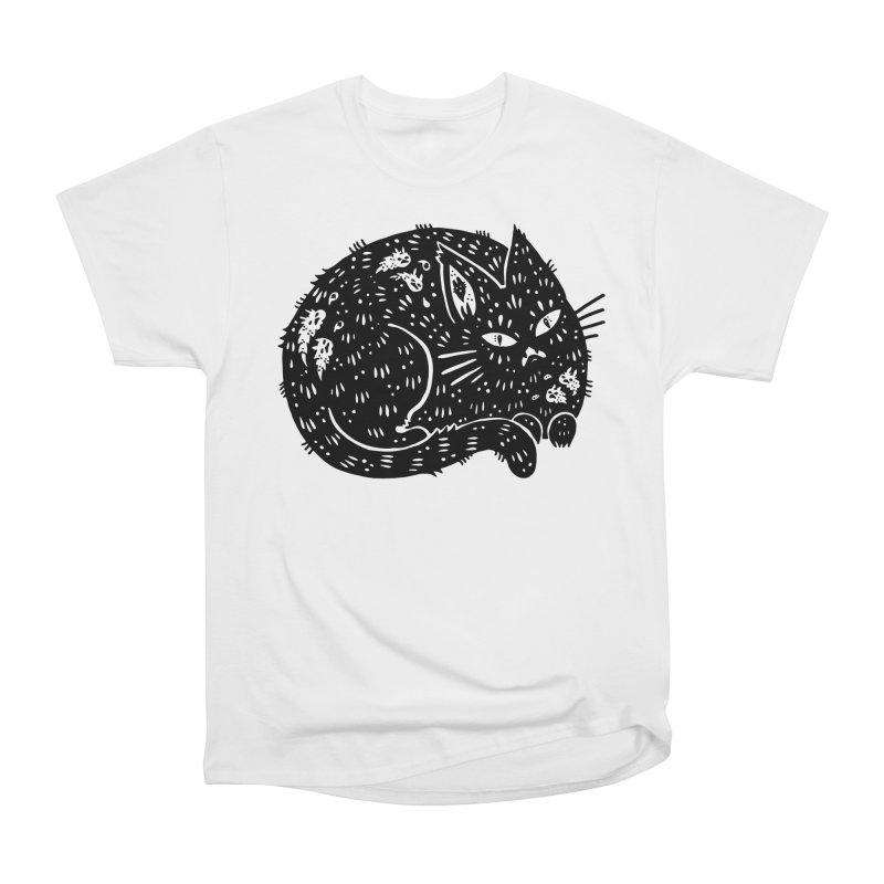 Fatty Cat sitting Men's Heavyweight T-Shirt by Haypeep's Artist Shop