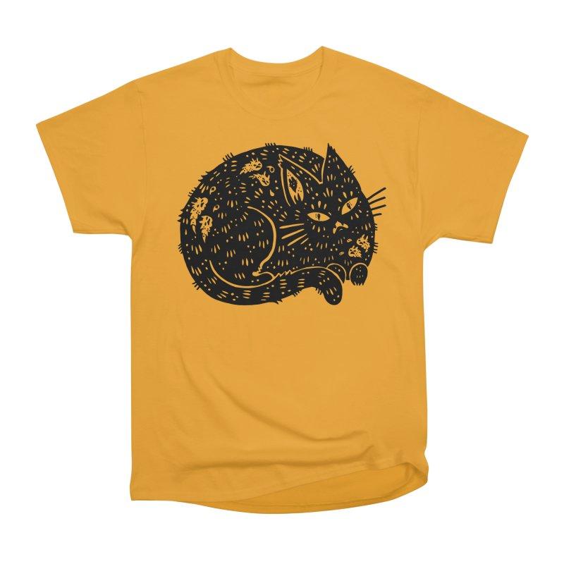 Fatty Cat sitting Women's Heavyweight Unisex T-Shirt by Haypeep's Artist Shop