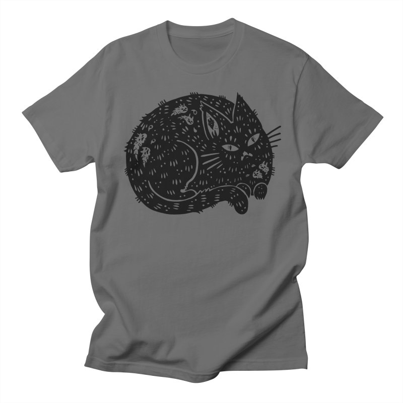 Fatty Cat sitting Men's Regular T-Shirt by Haypeep's Artist Shop