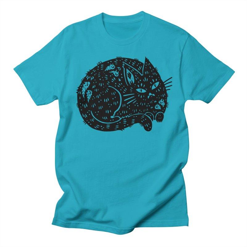 Fatty Cat sitting Men's Regular T-Shirt by Haypeep's Artist Shop