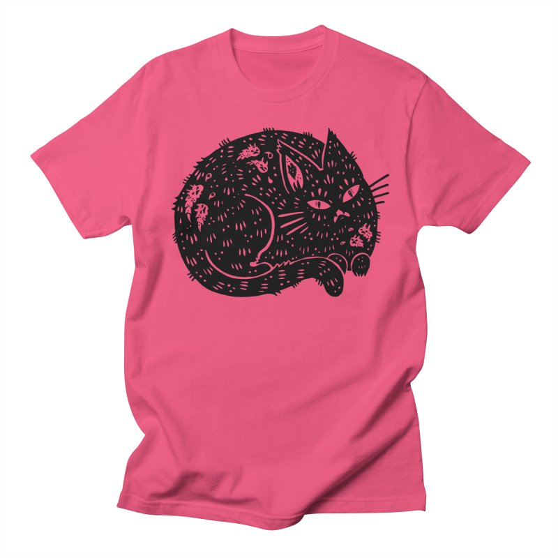 Fatty Cat sitting Women's Regular Unisex T-Shirt by Haypeep's Artist Shop