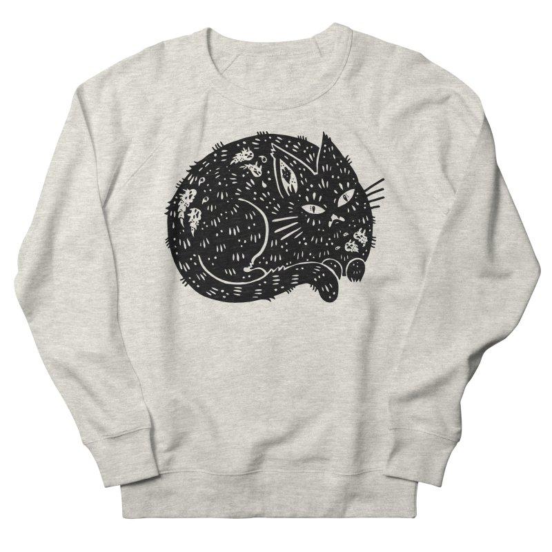 Fatty Cat sitting Men's Sweatshirt by Haypeep's Artist Shop