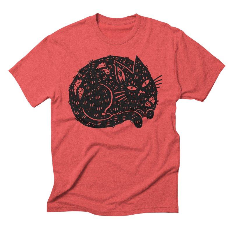 Fatty Cat sitting Men's Triblend T-Shirt by Haypeep's Artist Shop