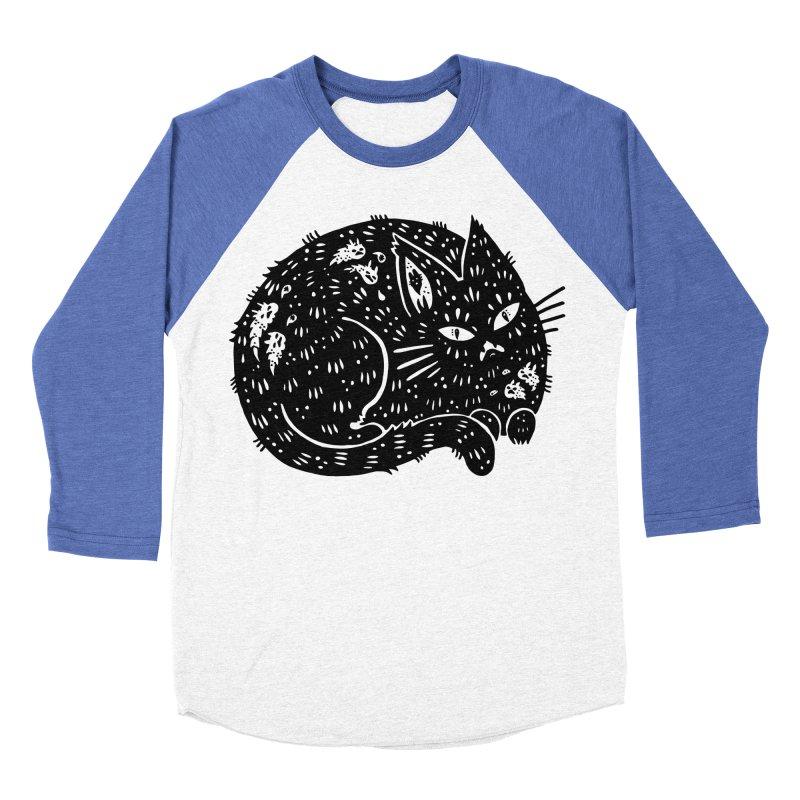 Fatty Cat sitting Women's Baseball Triblend T-Shirt by Haypeep's Artist Shop