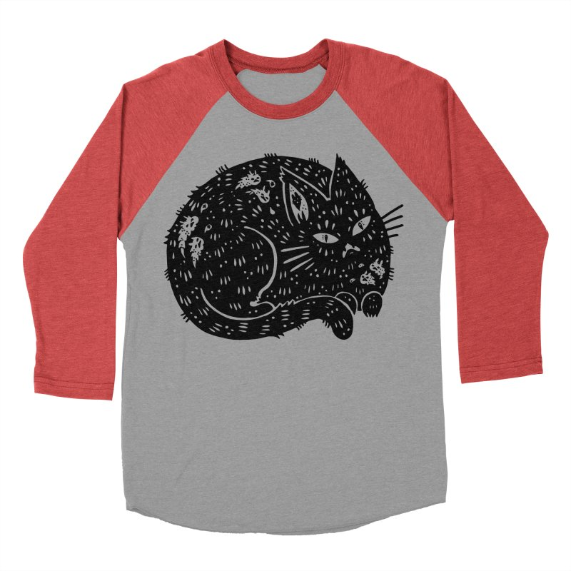 Fatty Cat sitting Women's Baseball Triblend Longsleeve T-Shirt by Haypeep's Artist Shop