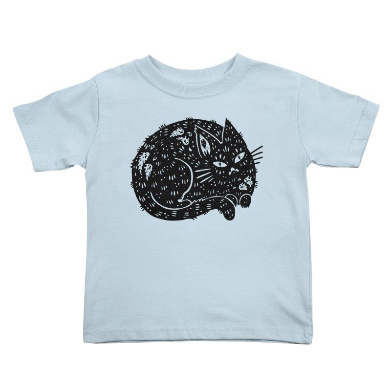 Fatty Cat sitting Kids Toddler T-Shirt by Haypeep's Artist Shop
