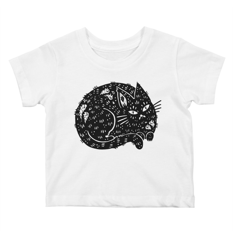 Fatty Cat sitting Kids Baby T-Shirt by Haypeep's Artist Shop