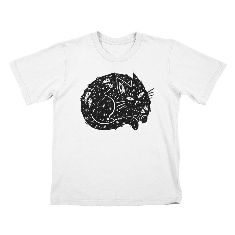 Fatty Cat sitting Kids T-Shirt by Haypeep's Artist Shop