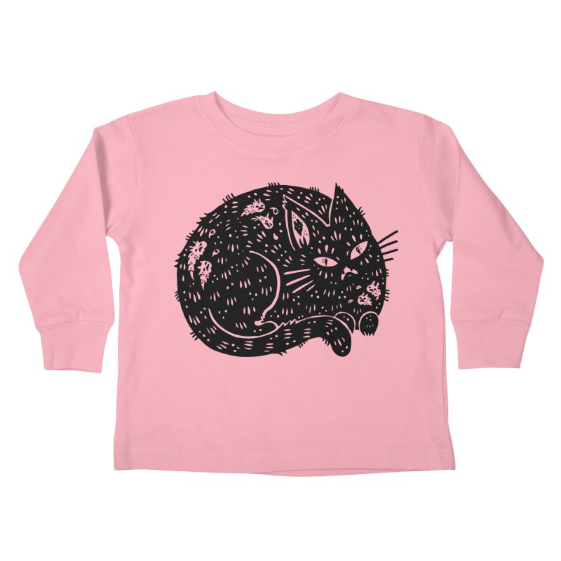 Fatty Cat sitting Kids Toddler Longsleeve T-Shirt by Haypeep's Artist Shop